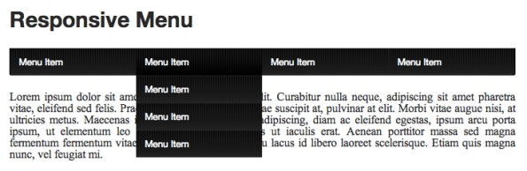 Responsive CSS3 Dropdown-Menü Tutorial
