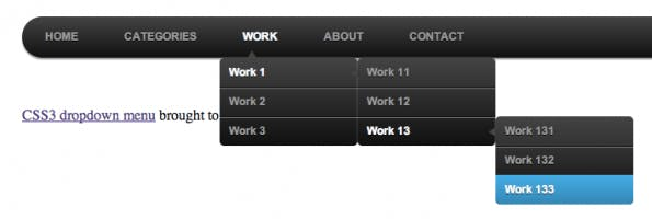 Red-Team-Design CSS3 Dropdown-Menü-Tutorial