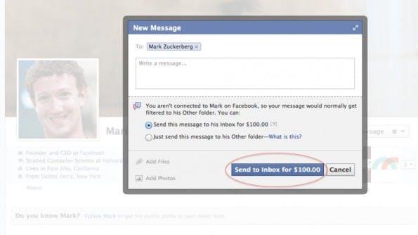 Nachricht An Facebook