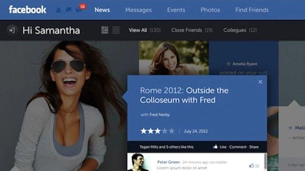 Facebook in schick – so könnte ein Redesign aussehen
