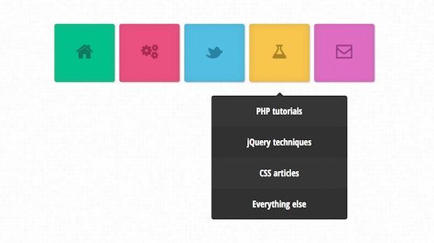 Dropdown-Menüs: 20 Demos von simpel bis schick – inklusive Download und Tutorials