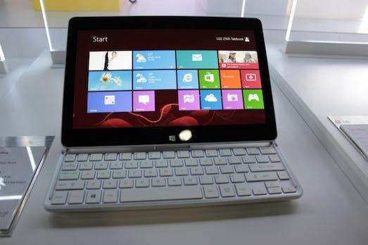 LG Tab Book und Tab Book Ultra: leichte Windows 8 Slider im Hands-On [CES 2013]