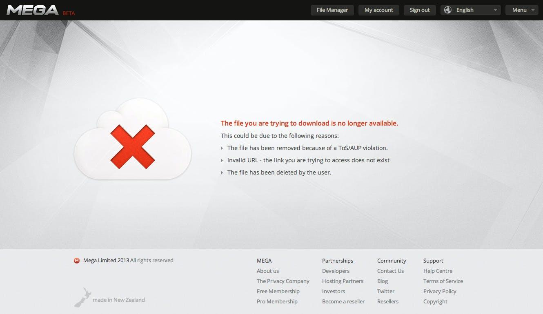 Mega nimmt Inhalte von Usern offline, weil sie bei Suchmaschine Mega-Search gelistet waren