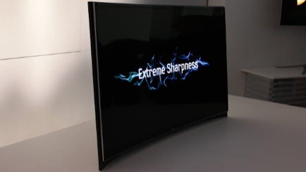 Kinofeeling für zuhause: Curved OLED-TVs von Samsung und LG [CES 2013]