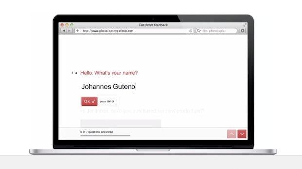 Typeform: Neues Tool für schicke Umfragen und Formulare