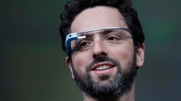 Hardware wird immer unwichtiger: Google-Gründer Sergey Brin mit der Google-Brille