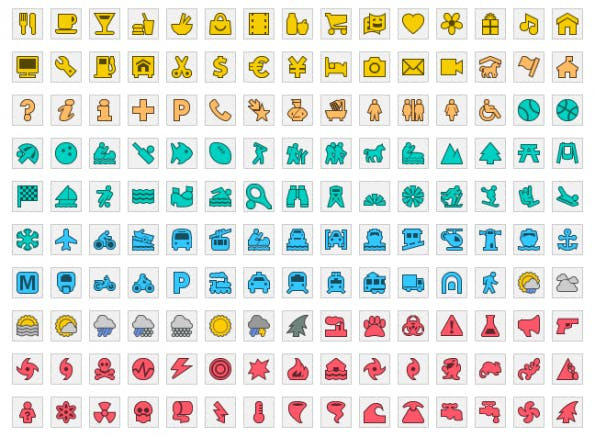 Google Maps Engine Lite - Icons