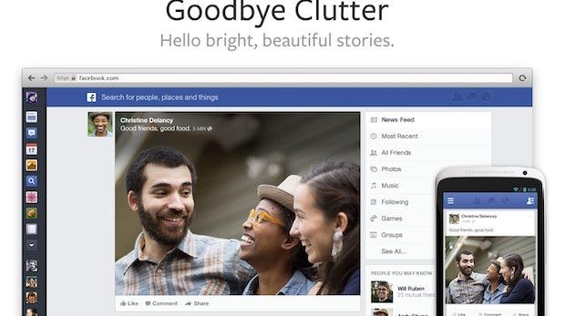 Facebook: Das ist der neue, aufgeräumte News Feed
