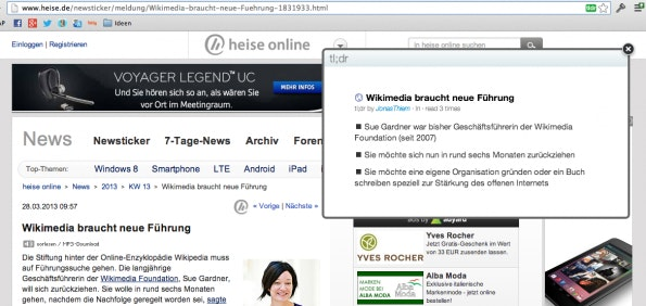 tldr.io Screenshot