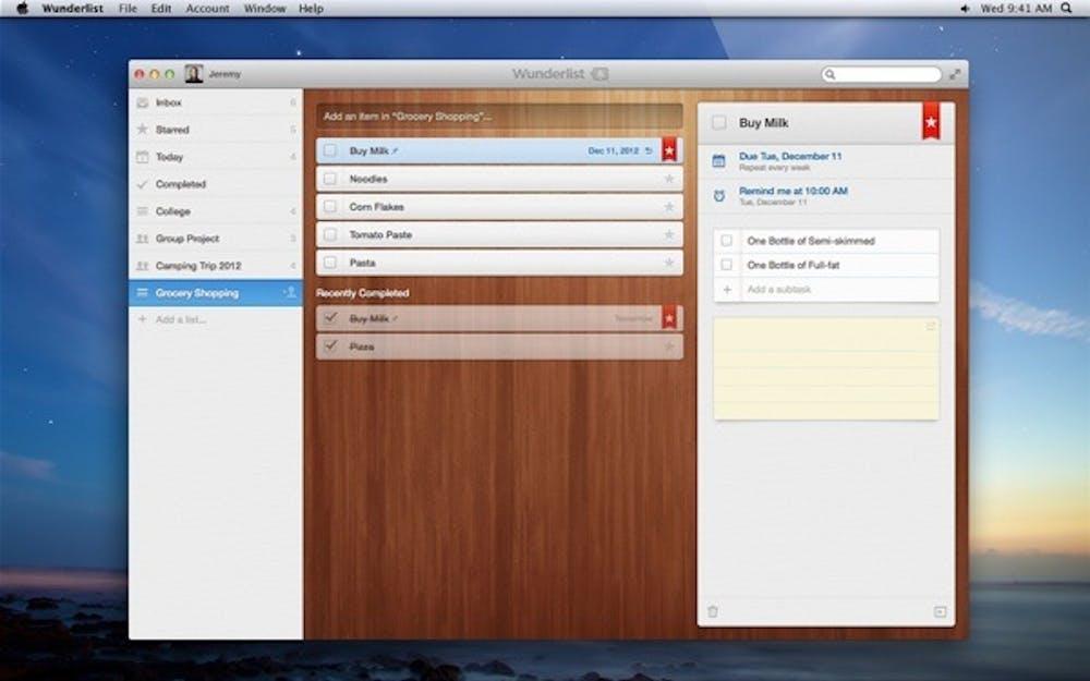 Screenshot von Wunderlist