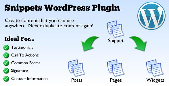 Snippets WordPress Plugin