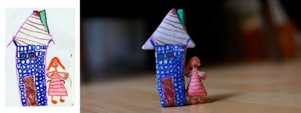 crayon creatures erstellt reelle Objekte aus Kinderzeichnungen für einen Preis von 100 Euro.