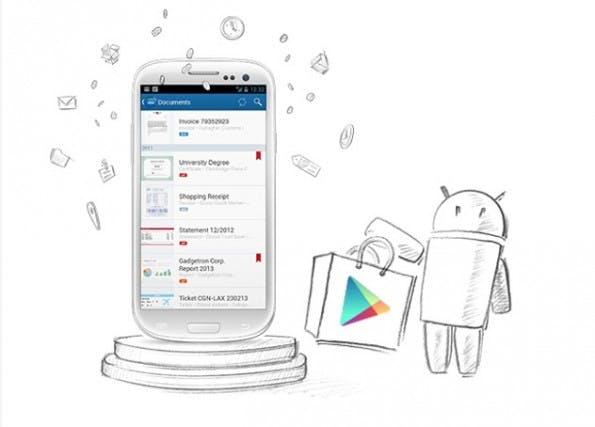 Die intelligente Dokumentenverwaltung Doo gibt es jetzt auch als Android-App.