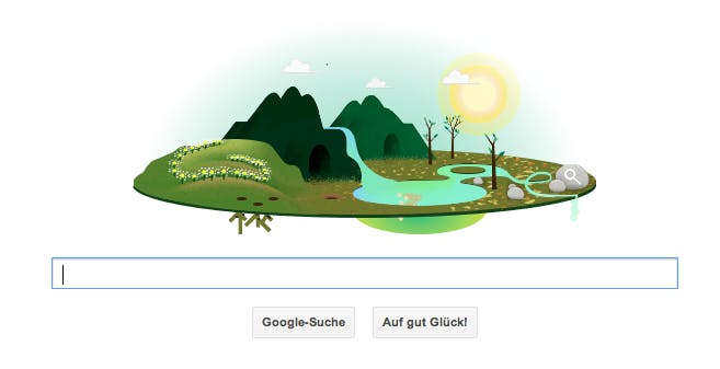 Google Doodle: Zum Earth Day wird die Erde eine Scheibe