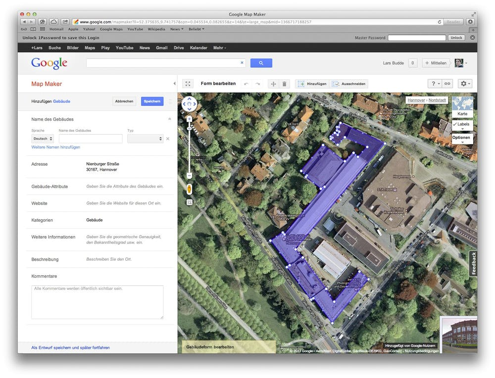 Google Map Maker im Einsatz.