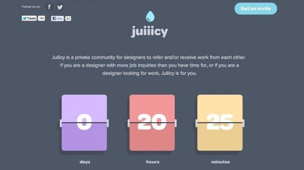 Juiiicy: Eine Jobplattform für Webdesigner mit völlig neuem Ansatz.