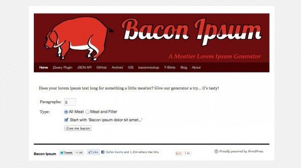 Lorem Ipsum Alternativen Bacon Ipsum