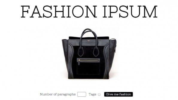 Lorem Ipsum Alternativen Fashion Ipsum