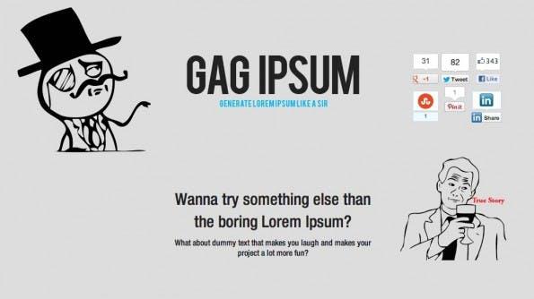Lorem Ipsum Alternativen GAG Ipsum