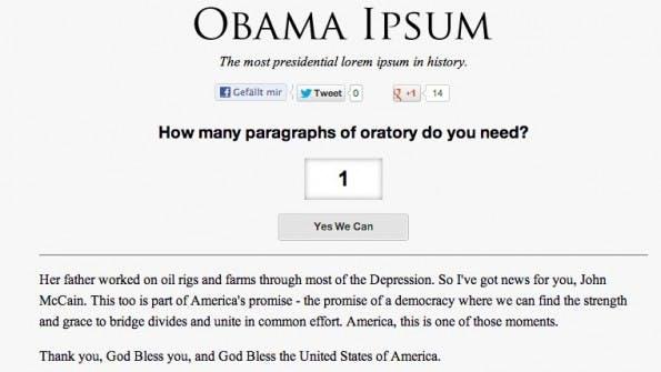 Lorem Ipsum Alternativen Obama Ipsum
