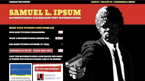Lorem Ipsum Alternativen Samuel L Jackson
