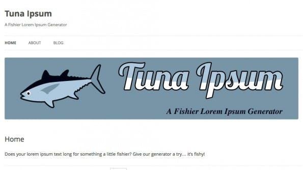Lorem Ipsum Alternativen Tuna Ipsum