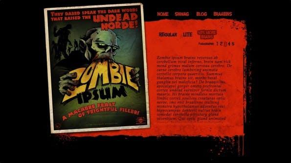 Lorem Ipsum Alternativen Zombie Ipsum