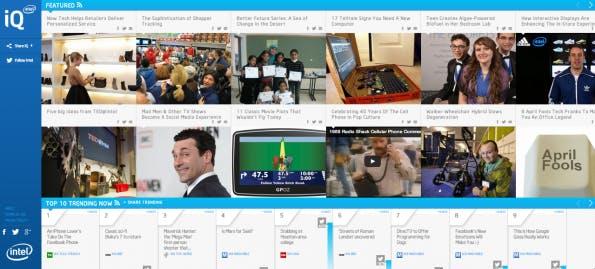 Content Curation-Magazin iQ von Intel