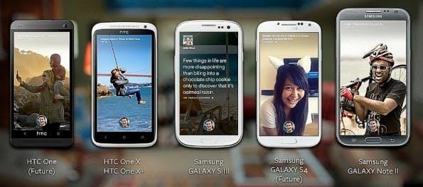 Diese Geräte werden direkt mit Facebook Home ausgeliefert.