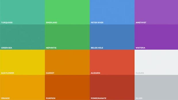die richtigen farben f rs flat design t3n digital pioneers. Black Bedroom Furniture Sets. Home Design Ideas