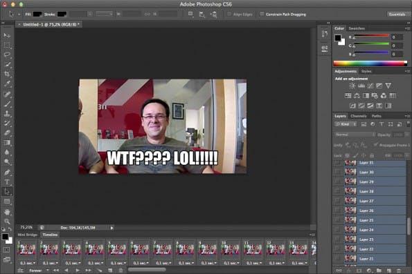 Selbst ist der Nerd: Photoshop ist nach wie vor der Königsweg zur animierten GIF.