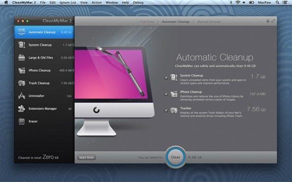 Mit dabei im Software-Bundle: CleanMyMac 2.