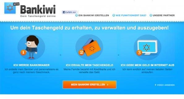 Bankiwi - Das virtuelle Taschengeld-Konto (Screenshot: Bankiwi)