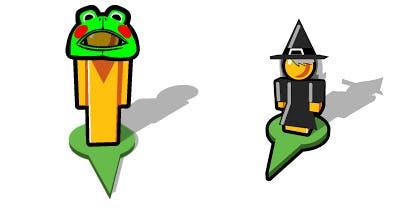 Zu Halloween gab es auch schon einmal ein Kostüm. Der Frosch beispielsweise basiert auf eines, welches Germicks Mutter ihm einmal bastelte.