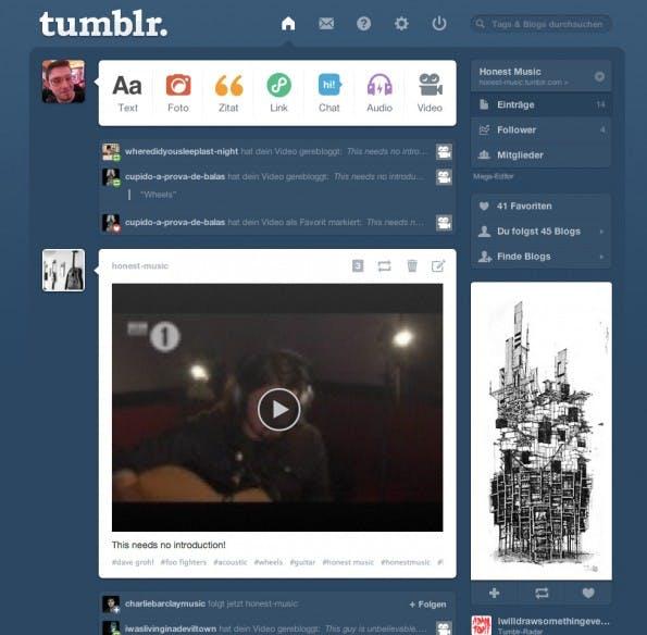 Kommentare gibt es bei tumblr nicht. Interaktion kann nur durch ein erneutes Posten oder durch Favorisieren eines Beitrags entstehen.