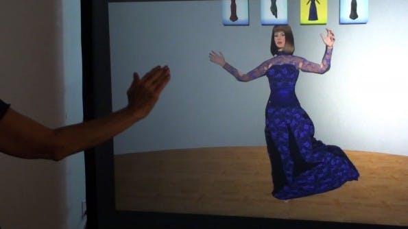 Die virtuelle Umkleidekabine in der Praxis: Bisher grafisch noch nicht überzeugend.
