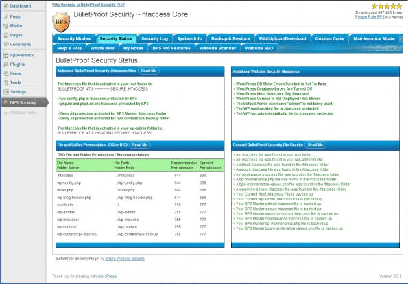 wordpress-sicherheit bulletproof