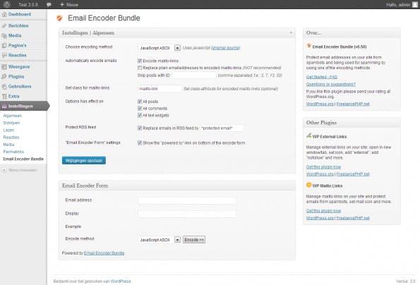 wordpress-sicherheit emailencoder