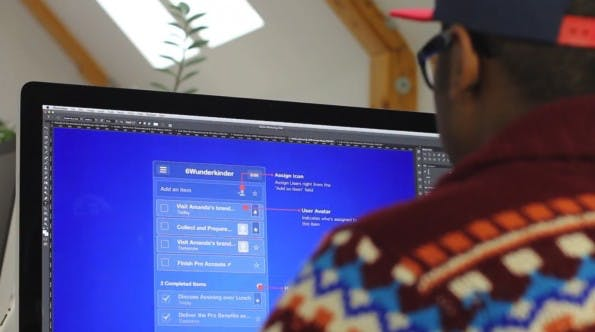 Einblick in den Designprozess von Wunderlist Pro.