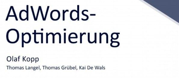 Olaf Kopp widmet sich in seinem E-Book der Optimierung von AdWords-Anzeigen. (Screenshot: sem-deutschland.de)