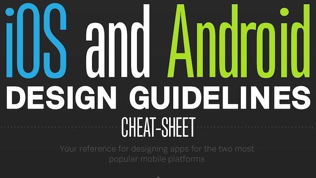 Die wichtigsten Design-Guidelines für iOS und Android [Infografik]