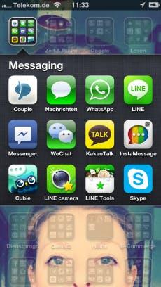 Mehr als eine Messaging App? Kein Problem auf dem Smartphone.