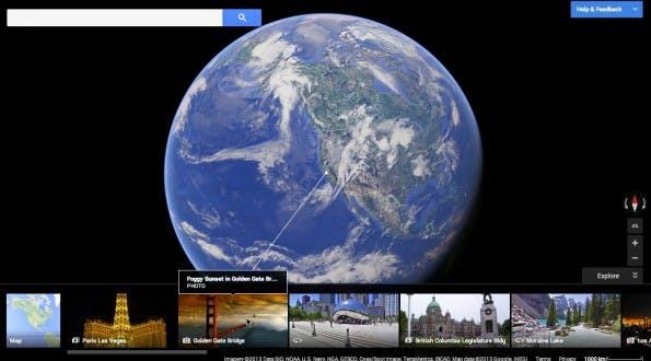 Durch die Integration von Google Earth und Google Maps kann der Nutzer in Google Maps aus dem Weltall bis direkt in ein Gebäude zoomen.
