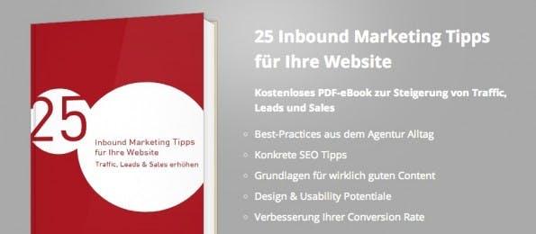 Inbound Marketing steht im Fokus dieses E-Books. (Screenshot: ranking-check.de)