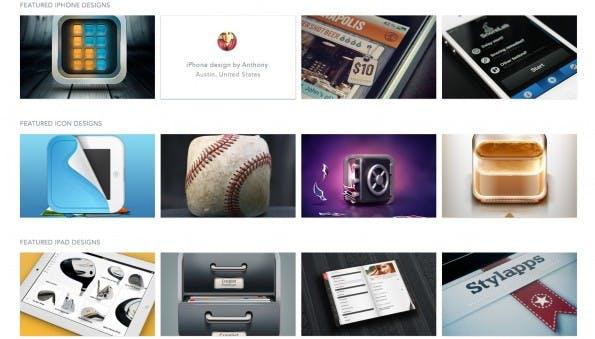 Scoutzie bietet gutes Design – von Icons über Apps bis hin zu Websites. (Screenshot: scoutzie.com)