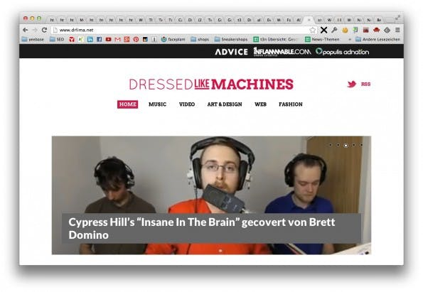 Dressed Like Machines – Lifestyle-Blog. (Screenshot: drlima.net)