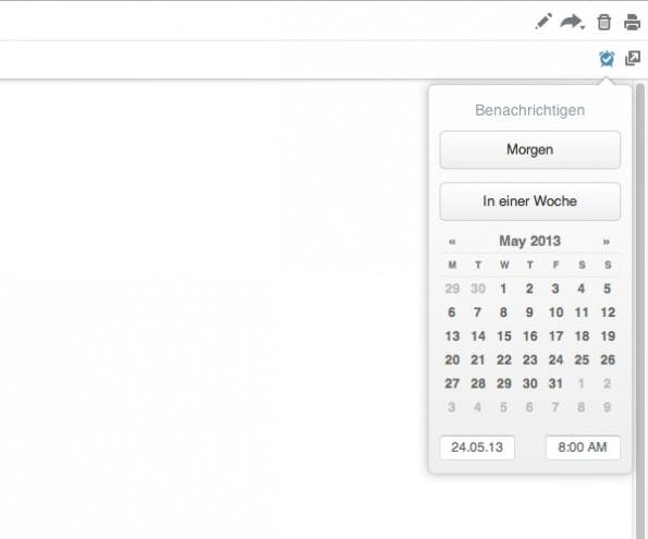Der Kalender für Evernotes Erinnerungen. (Screenshot: evernote.com)