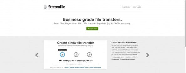 Streamfile. (Screenshot: streamfile.com)