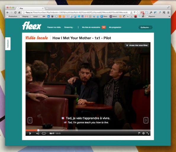 Ein weiteres Beispiel von Fleex mit einer Folge How I Met Your Mother. (Screenshot: fleex.com)