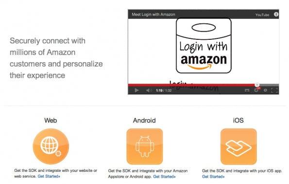 Login with Amazon ist sowohl für Websites und Games als auch für Apps unter Android und iOS nutzbar.